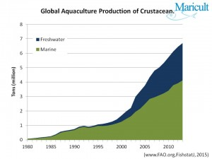 Global production of Crustacean